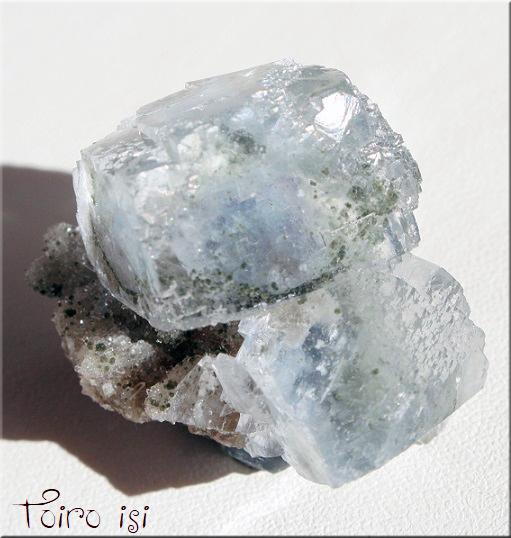 画像1: グリーンブルー フローライト 原石